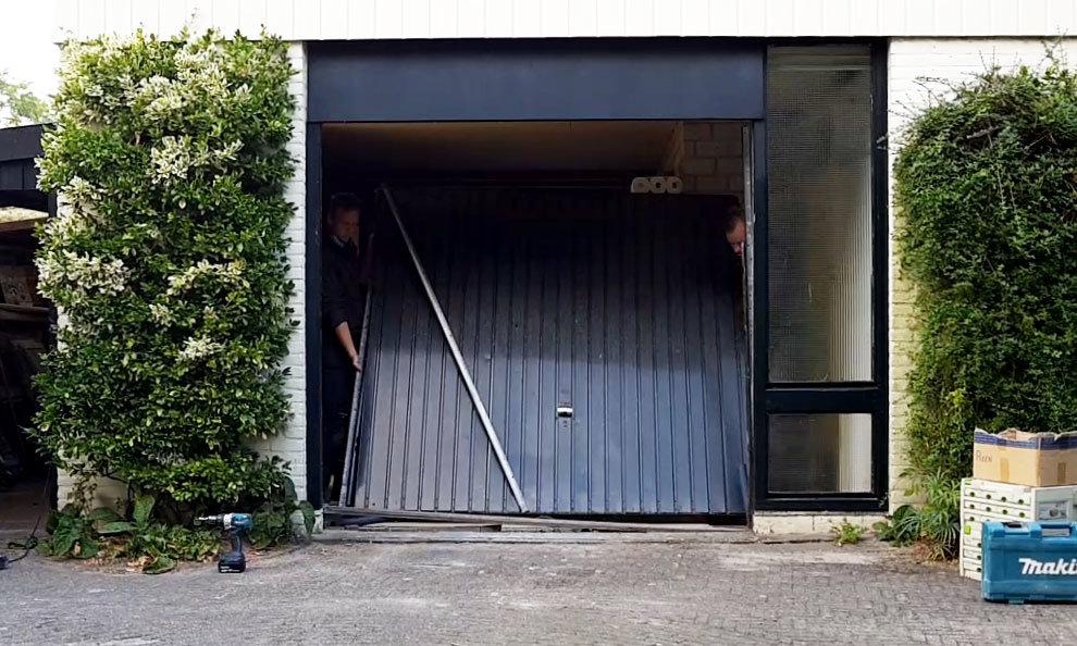 Demontage garagedeuren